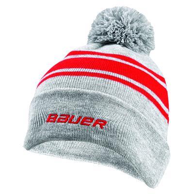(Bauer Team Striped Pom Knit Hat - Adult)