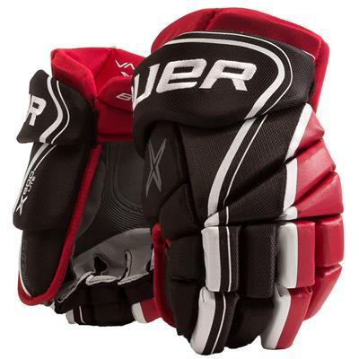 Black/Red (Bauer Vapor X800 Lite Hockey Gloves - Senior)