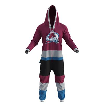 Colorado Avalanche Onesie (Hockey Sockey Colorado Avalanche Onesie - Adult)