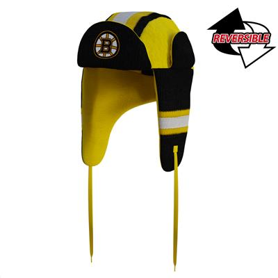 Boston Bruins Reversible Trapper Hat (Hockey Sockey Boston Bruins Reversible Trapper Hat - Adult)
