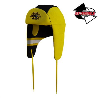 (Hockey Sockey Boston Bruins Reversible Trapper Hat - Adult)