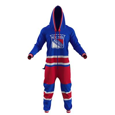 New York Rangers Onesie (Hockey Sockey New York Rangers Onesie - Adult)