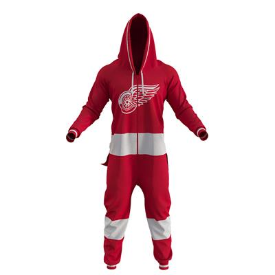 Detroit Red Wings Onesie (Hockey Sockey Detroit Red Wings Onesie - Adult)