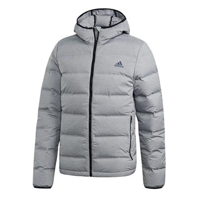 (Adidas Outdoor Helionic Hooded Jacket - Grey - Mens)