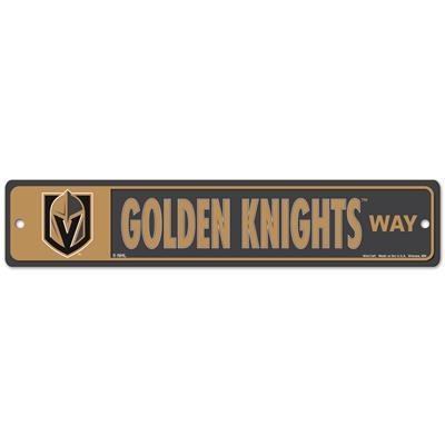 NHL Street Sign Knights (Wincraft Las Vegas Golden Knights Street Sign)