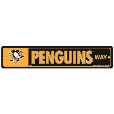 NHL Street Sign Penguins (Wincraft Pittsburgh Penguins Street Sign)