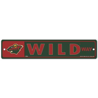 NHL Street Sign Wild (Wincraft Minnesota Wild Street Sign)