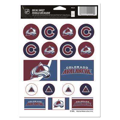 NHL Sticker Sheet 5x7 Avalanche (Wincraft Vinyl Sticker Sheet - Colorado Avalanche)