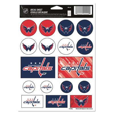 NHL Sticker Sheet 5x7 Capitals (Wincraft Vinyl Sticker Sheet - Washington Capitals)