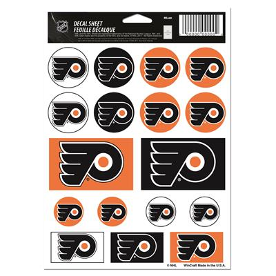 NHL Sticker Sheet 5x7 Flyers (Wincraft Vinyl Sticker Sheet - Philadelphia Flyers)
