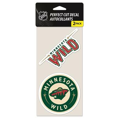 Perfect Cut Decal 2PK Wild (Wincraft NHL Wincraft Perfect Cut Decal - Minnesota Wild 2 Pack)