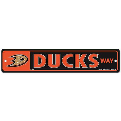 NHL Street Sign Ducks (Wincraft Anaheim Ducks Street Sign)