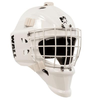 White (Wall USA W4 Pure Short Chin Certified Goalie Mask - Senior)