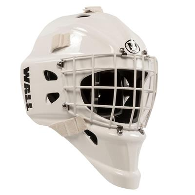 White (Wall USA W4 Pure Long Chin Certified Goalie Mask - Senior)