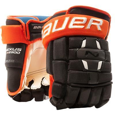Black/Orange (Bauer Nexus N2900 Hockey Gloves - Junior)