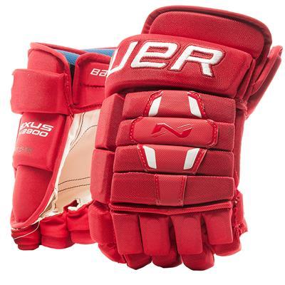 Red (Bauer Nexus N2900 Hockey Gloves - Junior)