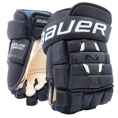 Navy (Bauer Nexus N2900 Hockey Gloves - Junior)