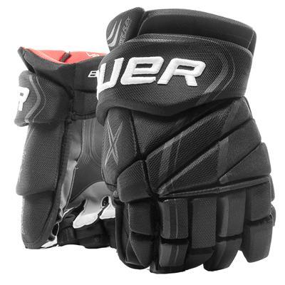 Black (Bauer Vapor X900 Lite Hockey Gloves)