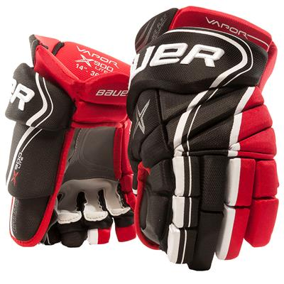 Black/Red (Bauer Vapor X900 Lite Hockey Gloves)