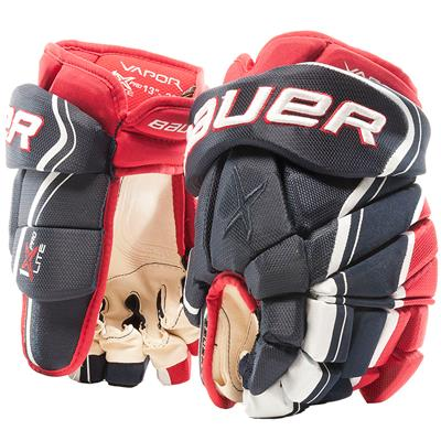 Navy/Red/White (Bauer Vapor 1X Lite Pro Hockey Gloves - Senior)