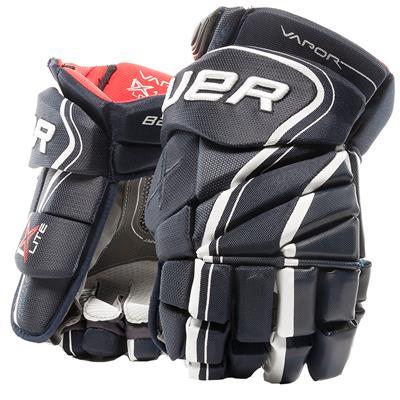 Navy (Bauer Vapor 1X Lite Hockey Gloves - Senior)