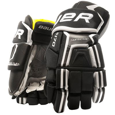 Black/White (Bauer Supreme S170 Hockey Gloves - 2017 - Senior)