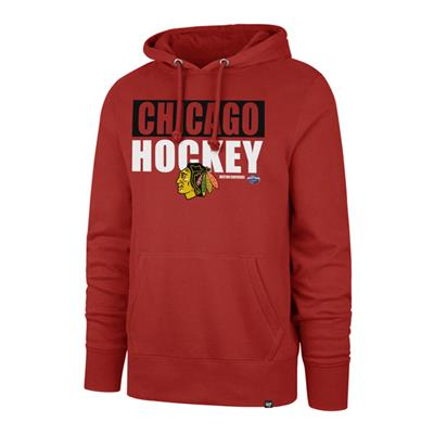 (47 Brand Blockout Headline Hoody - Chicago Blackhawks - Mens)