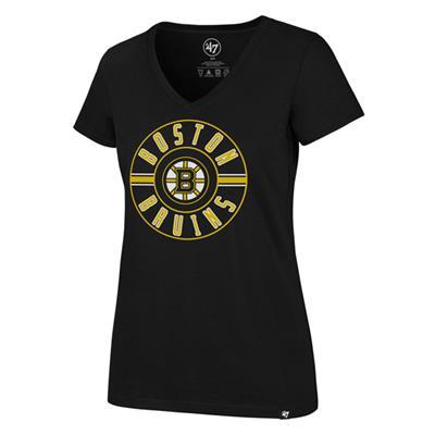 (47 Brand Flip Ultra Rival V-Neck Tee - Boston Bruins - Womens)