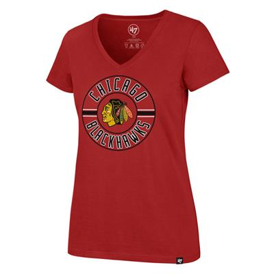 (47 Brand Flip Ultra Rival V-Neck Tee - Chicago Blackhawks - Womens)