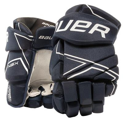 Navy (Bauer NSX Hockey Gloves - Junior)