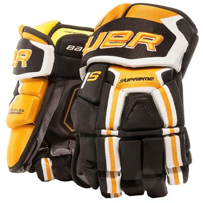 Black/Gold (Bauer Supreme 1S Hockey Gloves - 2017 - Senior)