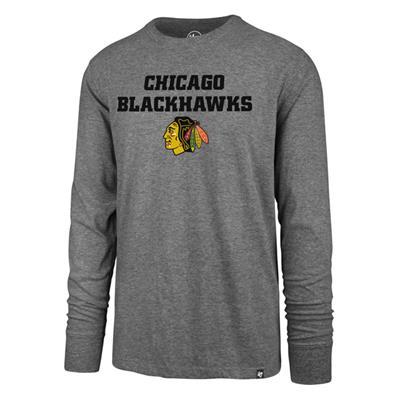 (47 Brand Pregame Super Rival Long Sleeve Tee - Chicago Blackhawks - Mens)