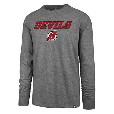 (47 Brand Pregame Super Rival Long Sleeve Tee - New Jersey Devils - Mens)