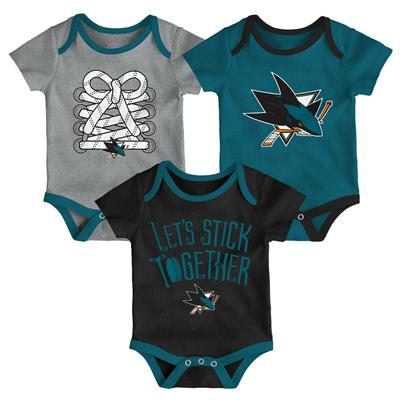 (Adidas Colorado Avalanche Five on Three Baby Onesie 3-Pack - Infant)