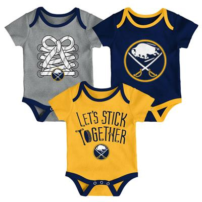 (Adidas Buffalo Sabres Five on Three Baby Onesie 3-Pack - Infant)