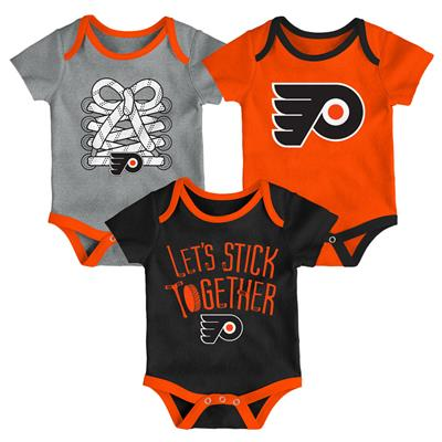 (Adidas Philadelphia Flyers Five on Three Baby Onesie 3-Pack - Infant)