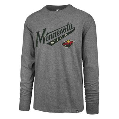 (47 Brand Pregame Super Rival Long Sleeve Tee - Minnesota Wild - Mens)
