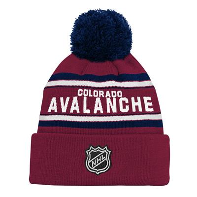 Back (Adidas Colorado Avalanche Youth Pom Knit Hat)