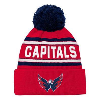 Front (Adidas Washington Capitals Youth Pom Knit Hat)