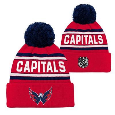 Washington Capitals (Adidas Washington Capitals Youth Pom Knit Hat)