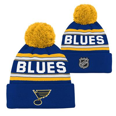 St. Louis Blues (Adidas St. Louis Blues Youth Pom Knit Hat)