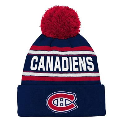 Front (Adidas Montreal Canadiens Youth Pom Knit Hat)