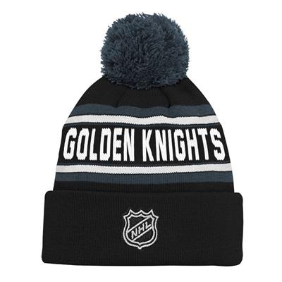 Back (Adidas Vegas Golden Knights Youth Pom Knit Hat)