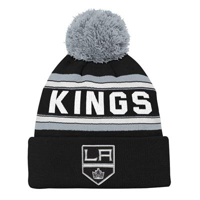 Front (Adidas Los Angeles Kings Youth Pom Knit Hat)