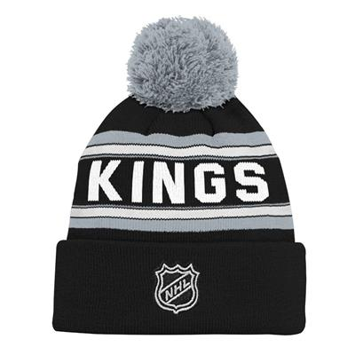Back (Adidas Los Angeles Kings Youth Pom Knit Hat)