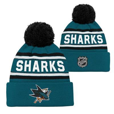 San Jose Sharks (Adidas San Jose Sharks Youth Pom Knit Hat)