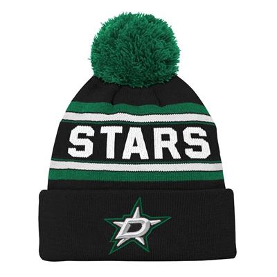 Front (Adidas Dallas Stars Youth Pom Knit Hat)
