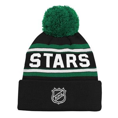 Back (Adidas Dallas Stars Youth Pom Knit Hat)