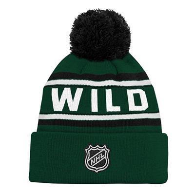 Back (Adidas Minnesota Wild Youth Pom Knit Hat)