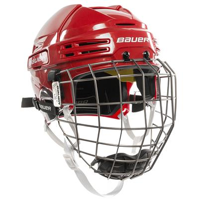 Red/Red (Bauer RE-AKT 75 Hockey Helmet Combo)